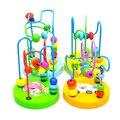 N001 Детей Мини Строительные Деревянные Игрушки Вокруг Шарика Строки для Детей Развивающие Игрушки Игра-Головоломка