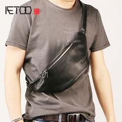 AETOO мужской кожаный пояс, стильная косая нагрудная сумка, сумка для отдыха, дорожная многофункциональная Водонепроницаемая мужская сумка