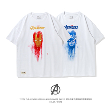TEE7 Men Casual Short Sleeve oversize t shirt Marvel the 10th anniversary avengers 4 Cotton Printed Tee  Male leisure Blouse