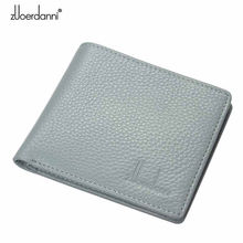 Short Wallets  Genuine Leather women Ultra Thin Wallet Purse Vintage Solid Purses Womens Slim Card Bags High Quality Free Shipp