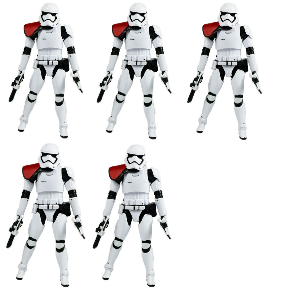 ФОТО 5Pcs  Star Wars The Force Awakens First Order Stormtrooper Officer EE EXCLUSIVE No Box Hasbro0111