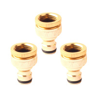 YHYS 3Pcs 1/2 inch 3/4 inch Thread Quick Connector Tap Connector For Garden Irrigation Watering Hose Pipe Fitting Adapter