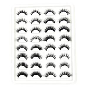 Image 3 - SOQOZ 16/7 Pairs False Eyelashes 3D Mink Eyelashes Handmade Fluffy Eye Lashes Real Mink Lashes Makeup Thick Fake Eyelashes