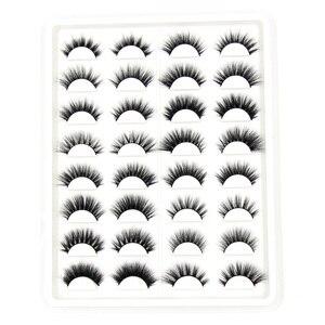 Image 3 - Soqoz 16/7 pares cílios postiços 3d vison cílios feitos à mão macio olho cílios vison real cílios maquiagem grosso cílios falsos