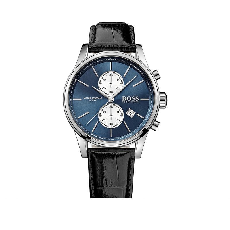 BOSS Quartz Watch for Men Luxury Brand Vintage Mens Wrist Watch with Black Leather Strap - 1513283BOSS Quartz Watch for Men Luxury Brand Vintage Mens Wrist Watch with Black Leather Strap - 1513283