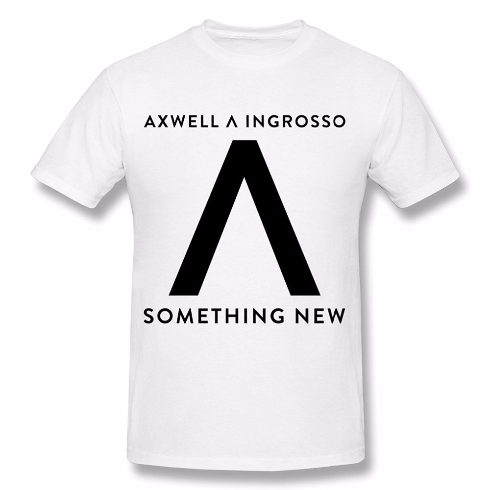 New Simple Style Creative Design Fashion Axwell Ingrosso Men's Printed High Quality Cotton T-shirt