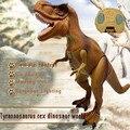 O Envio gratuito de Controle Remoto elétrico Brinquedos do Dinossauro Jurassic Dinossauro Tiranossauro Rex Modelo RC brinquedos para as crianças como presente de Chrismas