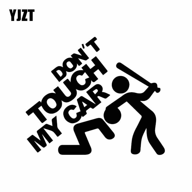 YJZT 15,5 см * 13,1 см и надписью «Don't Touch My автомобиля с картинкой автомобиля Стикеры тонкие виниловые наклейки в виде Фотообоев c переводными карт...