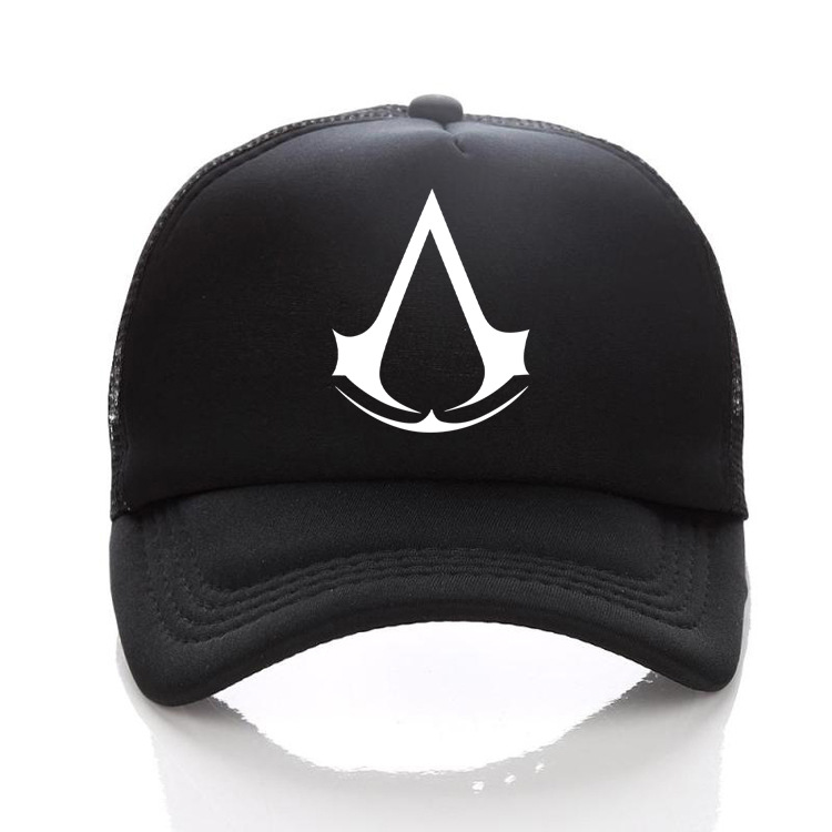 Hot Black Print Assassin's Creed Hip Hop Bboy Baseball Mesh Cap Bone Snapback Street Caps dad Hats Gorras