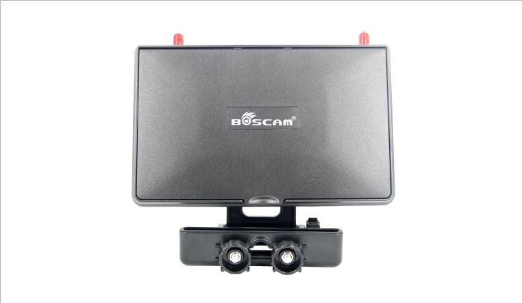 F17950 Boscam Galaxy D2 7in FPV Monitor/ Display Built-in 5.8G 32CH Dual Receiver with Holders, 4000mAh Battery and Sun Hood