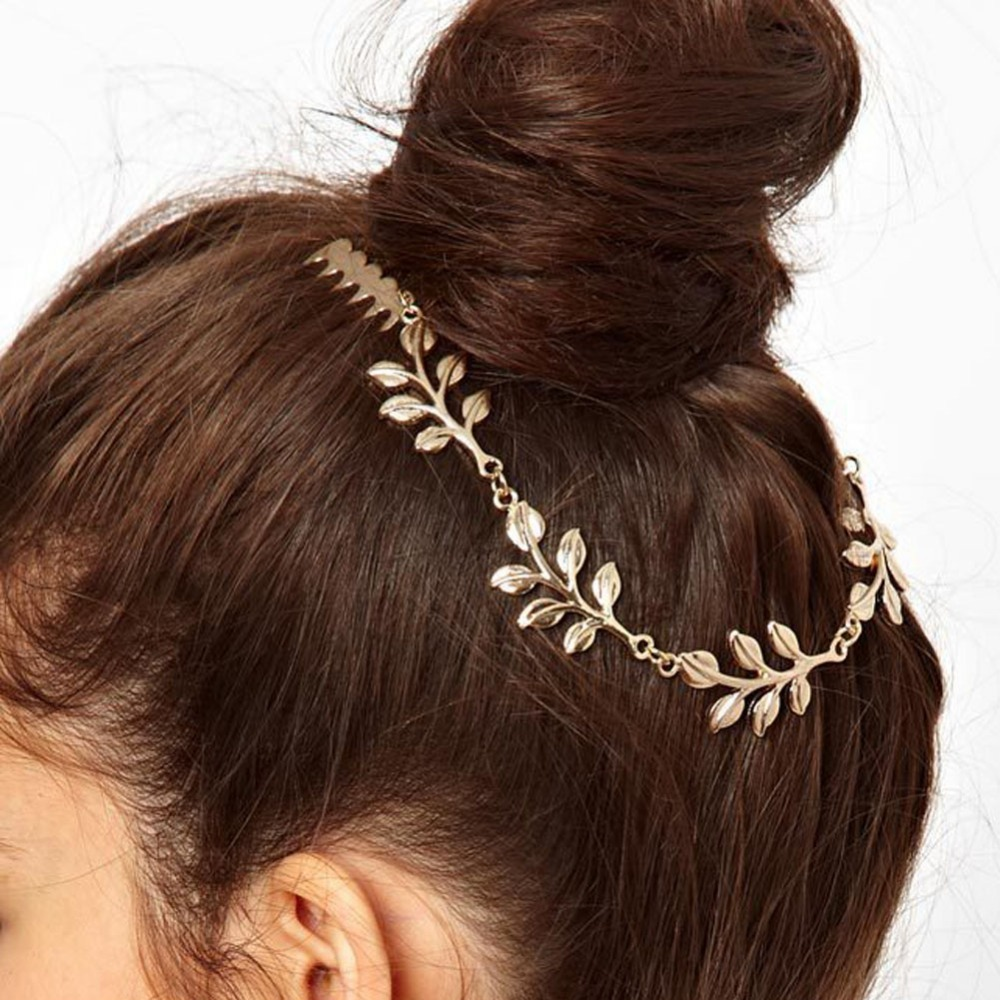 2017 Headdress Wholesale European And American Fashion Wild New Leaf Chain Tassel Comb Hair Accessories