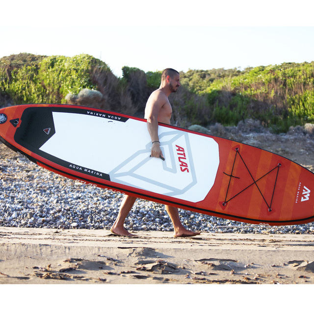 366*84*15 cm tabla de surf inflable ATLAS 2019 Tabla de paleta de pie surf AQUA MARINA water sport sup tabla de surf ISUP