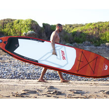 366*84*15cm inflatable surfboard ATLAS 2019 stand up paddle board surfing AQUA MARINA water sport sup board ISUP surf board(China)