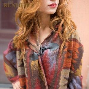 Image 3 - 2019 novas mulheres inverno boho casaco com capuz capa poncho senhoras xales envoltório feminino pashmina xadrez cashmere cobertor cachecol bufanda mujer