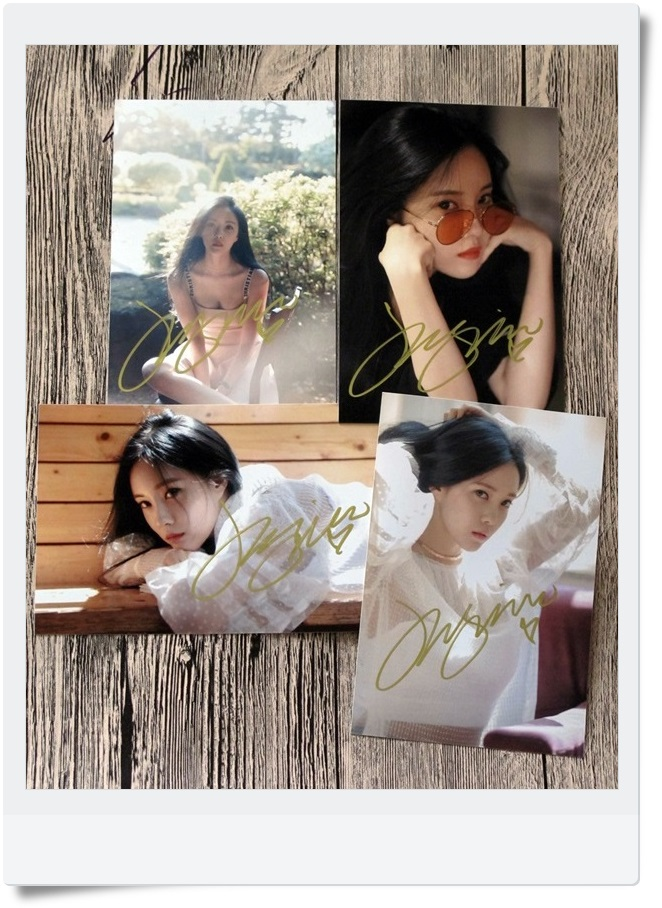 T-ARA TARA  Park Hyo Min HYOMIN  Autographed Photo Whats my name  4*6 4 photos set  free shipping  062017