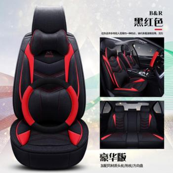 Car Seat Cover Flax universal seat cushion Car Styling For Mitsubishi Pajero Sport OUTLANDER EX Lancer Galant EVO FORTIS styling