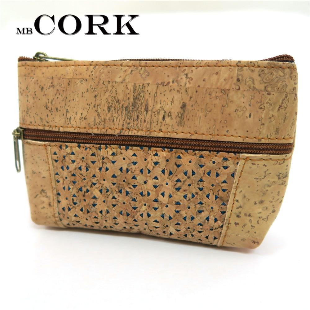 PORTUGAL Natural cork handmade small vegan purse coin Cork wallet Hollow purse original Eco Bag-226-E