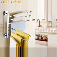 Free Shipping Fashion Brand New High Quality Solid Brass Bathroom Accessory Movable Towel Bars Towel Rail