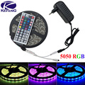 SMD 5050 RGB LED Strip Light Silicon Waterproof IP65 300LED 60LEDs/M 5M Flexible Tape Kit +Remote Controller+DC12V Power Adapter