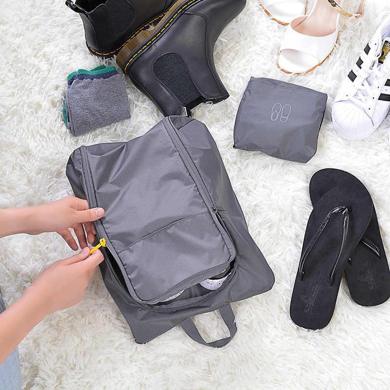 NINETYGO 90FUN bolsa de almacenamiento multifunción para zapatos ropa resistente al agua a prueba de polvo plegable en viaje vacaciones hombres mujeres