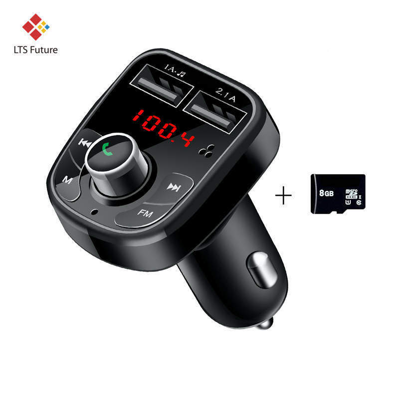 For Iphone X 2 Dual USB Port Fast Car Phone Charger For Samsung GPS Multi Function Handsfree Quick Charging Vehicle Auto Charger