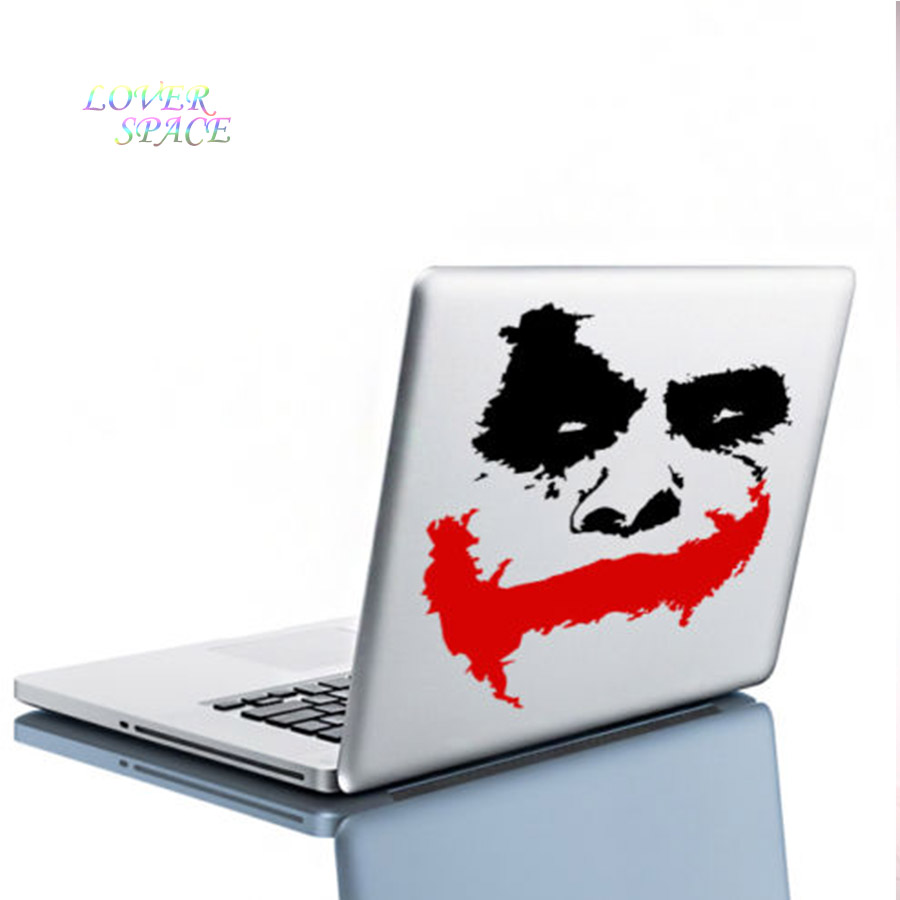 Vinyl dinding decal scary joker wajah film batman the dark