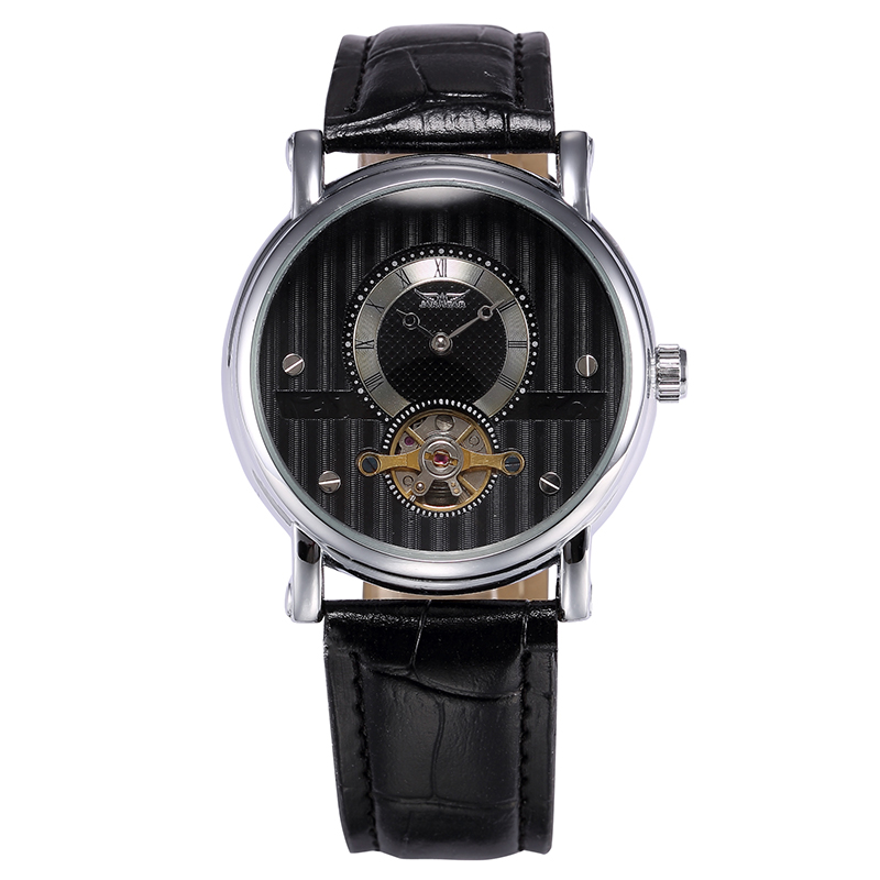 JARAGAR Fashion Casual Men Watch Reloj Hombre Male Clock Men's Automatic Mechanical Wristwatch Tourbillon Dial Relogio Masculino reloj hombre jaragar fashion watch mens moonphase flywheel auto mechanical stell wristwatch gift box free ship