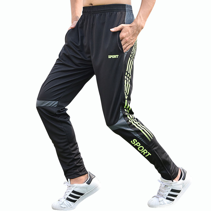 2018 Sexy Mens Pants Running Soccer Fitness Elastic Compression Dry fit Trousers Workout Long Pants
