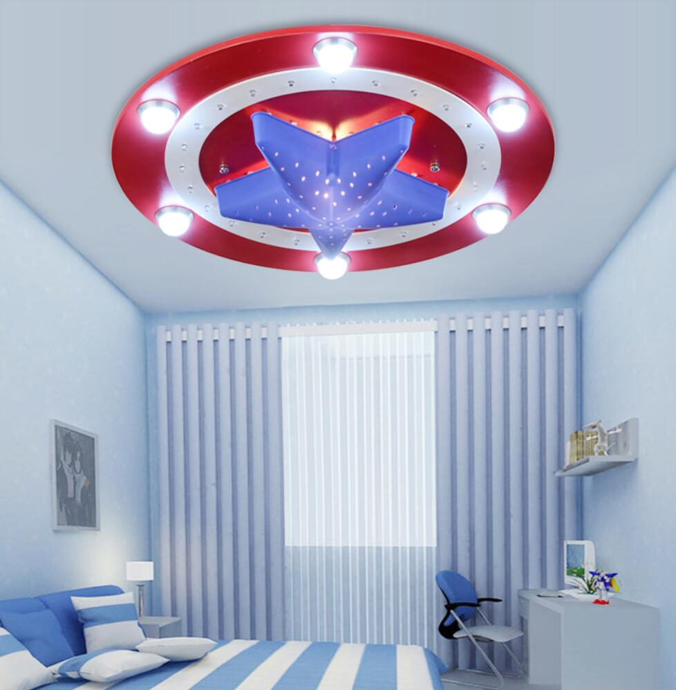 US $128.99 |New American Captain Hero Ceiling Light Lamp Children Room  Lighting Kid Boy Bedroom-in Ceiling Lights from Lights & Lighting on ...