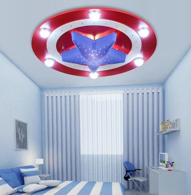 New American Captain Hero Ceiling Light Lamp Children Room Lighting Kid Boy Bedroom