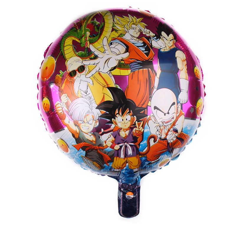 Taoqueen หมวกการ์ตูน Goku Dragon Ball เรืองแสงสีส้ม star ฟอยล์บอลลูนตกแต่งงานปาร์ตี้รูปแบบตกแต่งหมวก