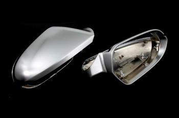 S Line Style Silver Matt Chrome Side Mirror Cap Replacement For Audi A6 C7