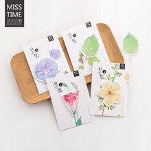 30 листов/lot творческий Kawaii цветы Блокнот Бумага Наклейки пост-это к сведению для детей подарок корейский канцелярия Школьные поставки