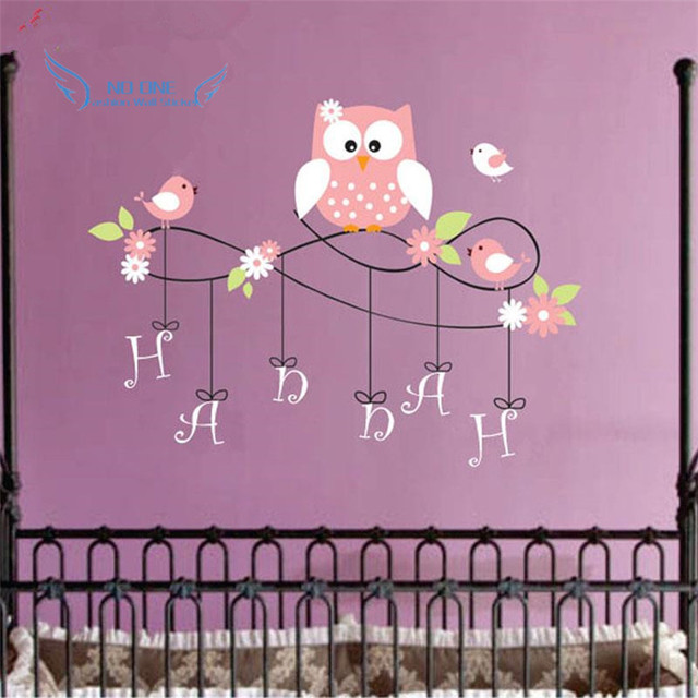 Aliexpresscom Buy Owl Wall Decal Personalized Name Vinyl Owl - Lego wall decals vinylaliexpresscombuy free shipping lego evolution decal wall