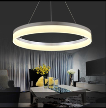 Postmodern Simple Acrylic Chandelier Ring Personalized Personality  Chandelier Bedroom Bar Table Lamp Round LED Chandelier