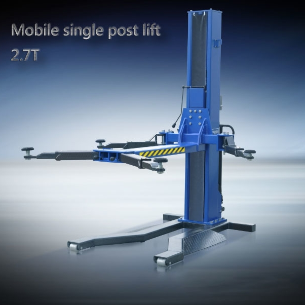 Mobile Hydraulic Lifts : Mobile single post car lift movable hydraulic