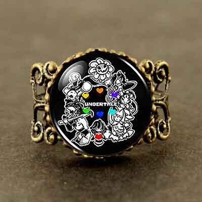 Undertale fans Game Gamer Mens Handmade Fashion brass bronze steampunk Jewelry womens chain toy womens wedding