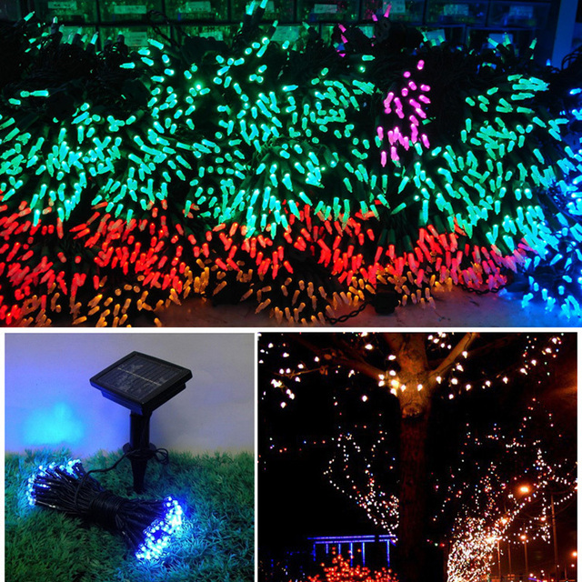 Muti color solar string lights party lights wedding lights for muti color solar string lights party lights wedding lights for garden gate yard string lights mozeypictures Image collections