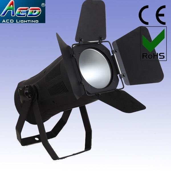 venta al por mayor 200 w cob led 3200 k blanco cálido led fresnel studio perfil proyector 4 unids / lote