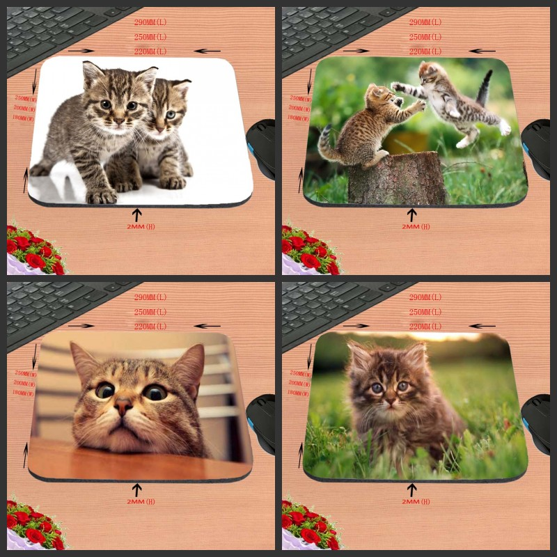 New Arrival Cute Cat No Locking Edge Rubber Mice Mat PC Computer Laptop Gaming Mouse Pad Play Mousepad Three Sizes for Chooce