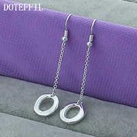 Pendientes de moda de diseño de joyería de marca 925 pendientes de Color plata al por mayor círculo de mujeres O adornos de Navidad E110