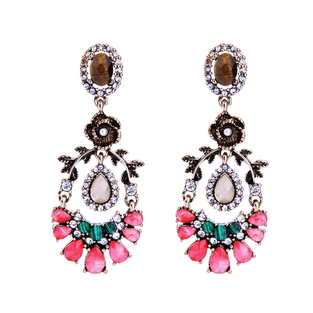 Colorful Leaf Flower Earrings Online Ping India Pending Vintage Costume Jewelry Accessories For Women