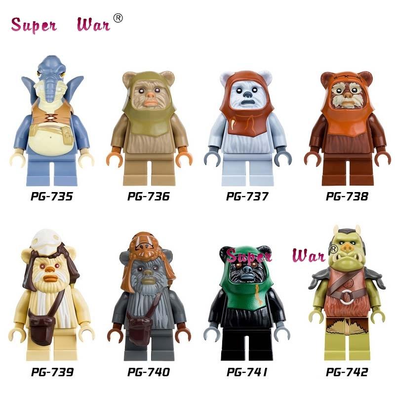 Шт. 1 шт. Звездные войны Logray Paploo Tan Ewok Tokkat битва эндора набор Teebo Калитка строительные блоки модели Кирпичи игрушки для детей