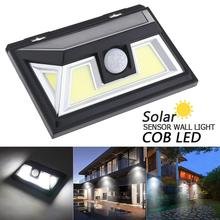 76 Core COB White Light PIR Human Body Sensing Wall Light Solar Sensor Corridor Light for Garden Outdoor Courtyard Lighting