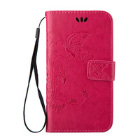 For LG G4 mini G4C Back coque Embossed print Leather Wallet Flip Cover Case carcasa Lavender Flower butterfly Stand Phone Case