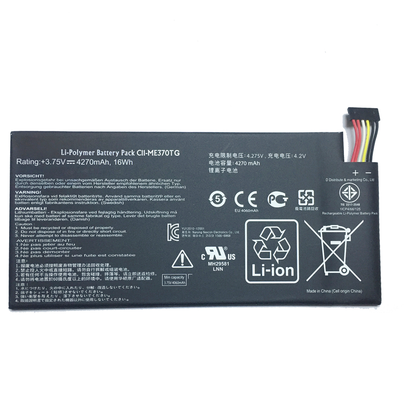 Kikiss Lithium Polymer Tablet Battery C11 Me370tg For Asus Google