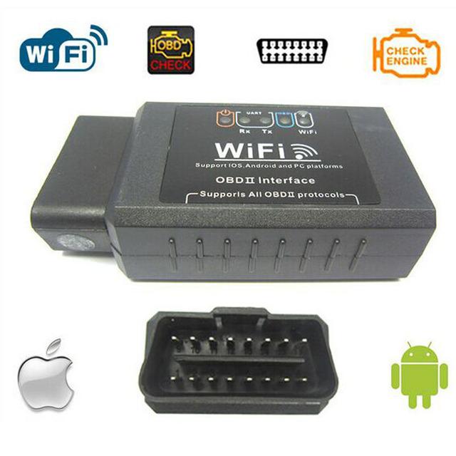 2017 de Alta Qualidade ELM327 Wifi Scanner Auto Ferramenta De Diagnóstico OBD2 ELM 327 WIFI Scanner OBDII V 1.5 Sem Fio Para Android/IOS LR30