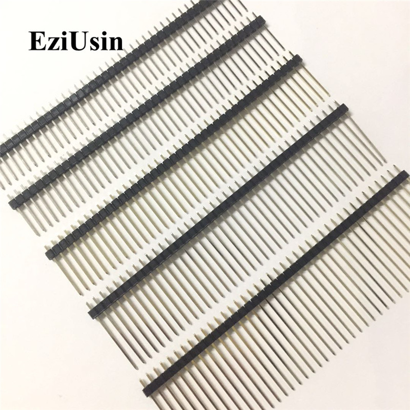 2.54mm Single Row Male Connector PCB Board Pin Header Long 8.5/9.5/13/14/15/17/19/21/25mm 3p 4p 5p 6p 8p 10p 15p Strip Pinheader