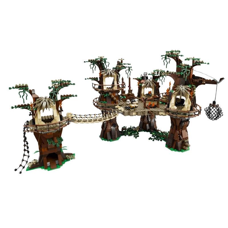 ФОТО 1990pcs Star Ewok Village Building Blocks Juguete para Construir Bricks Toys Compatible with JL BLOCK 05047 bricks