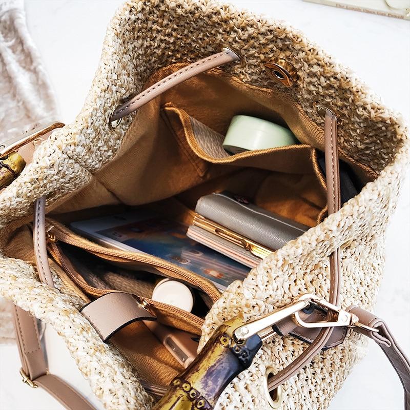 Beach bag portable bucket-shaped handbags shoulder diagonal package
